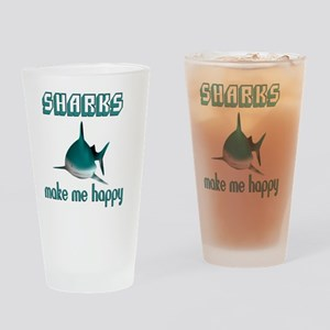 Sharks Make Me Happy Drinking Glass