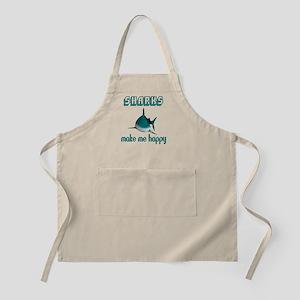 Sharks Make Me Happy Light Apron