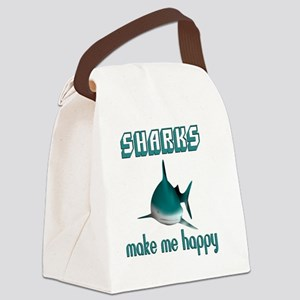 Sharks Make Me Happy Canvas Lunch Bag