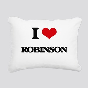 I Love Robinson Rectangular Canvas Pillow