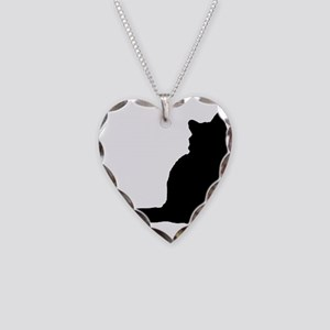 norwegian forest cat silhouette Necklace