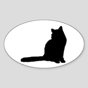 norwegian forest cat silhouette Sticker
