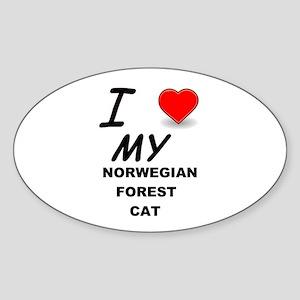 norwegian forest cat love Sticker