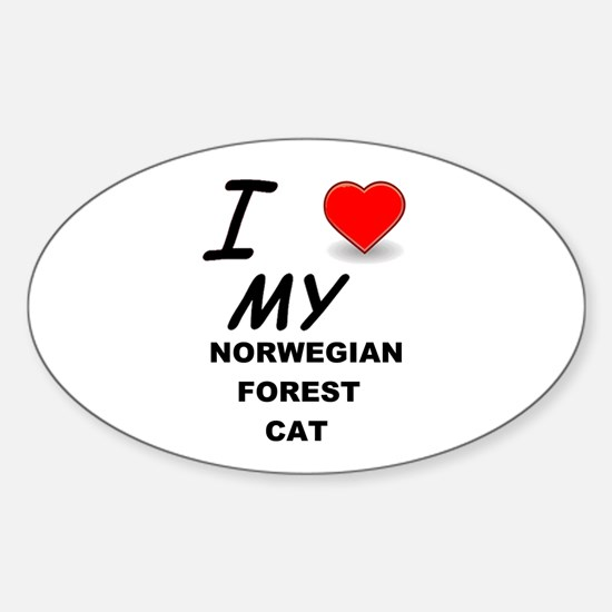 norwegian forest cat love Decal