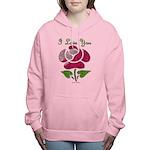 I Love You Rose Women's Hooded Sweatshirt