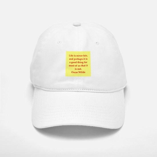 oscar wilde quote Baseball Baseball Cap