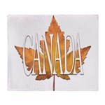 Canada Souvenir Throw Blanket