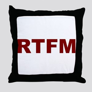 RTFM Throw Pillow
