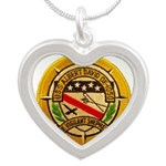 USS ALBERT DAVID Silver Heart Necklace