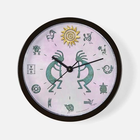 Native American Symbols Wall Clock