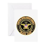 CIA CIA CIA Greeting Cards (Pk of 10)