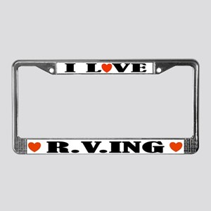 RVing License Plate Frame