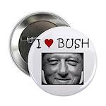 Clinton Loves Bush Button (100 pk)