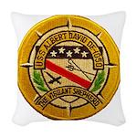 USS ALBERT DAVID Woven Throw Pillow