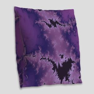 Purple Explosion Burlap Throw Pillow