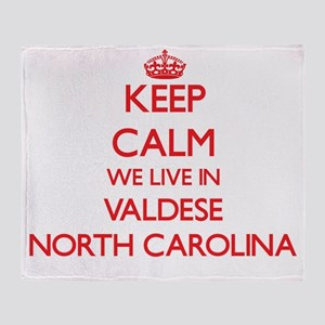 Keep calm we live in Valdese North C Throw Blanket