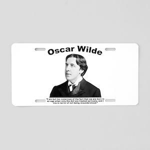 Wilde: Dull Aluminum License Plate