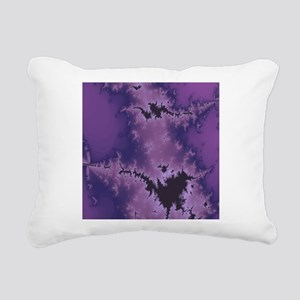 Purple Explosion Rectangular Canvas Pillow