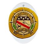 USS ALBERT DAVID Oval Ornament