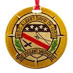 USS ALBERT DAVID Round Ornament