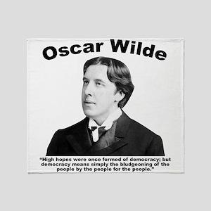 Wilde: Democracy Throw Blanket