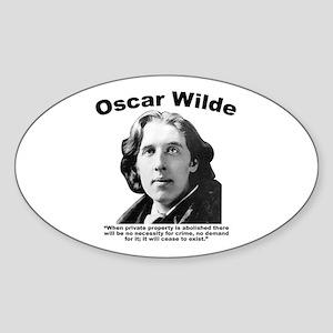 Wilde: Crime Sticker (Oval)