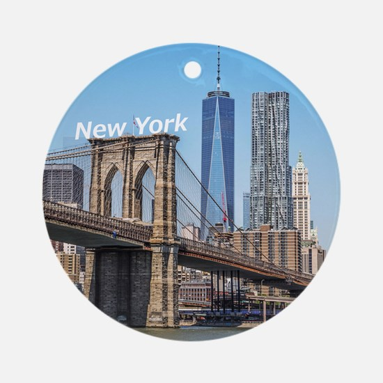 New York Ornament (Round)