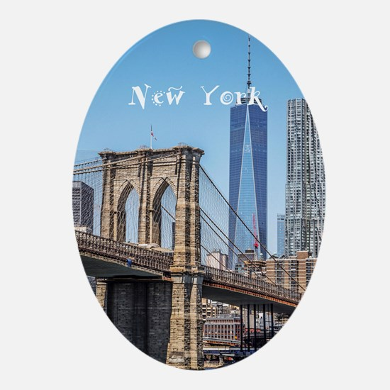 New York Ornament (Oval)
