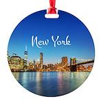 New York Round Ornament