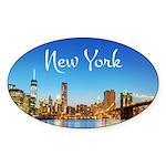 New York Sticker (Oval 10 pk)