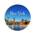 """New York 3.5"""" Button (100 pack)"""