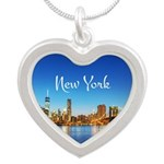 New York Silver Heart Necklace