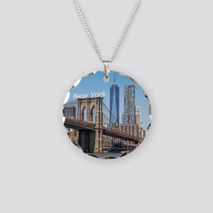 New York Necklace Circle Charm