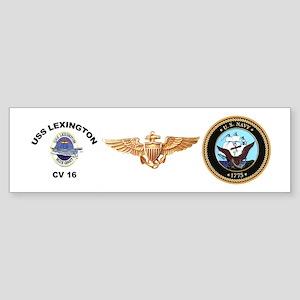USS Lexington CV 16 Sticker (Bumper)