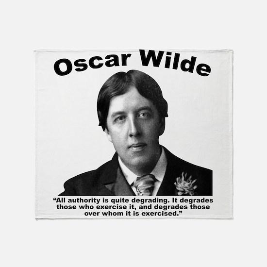 Wilde: Authority Throw Blanket