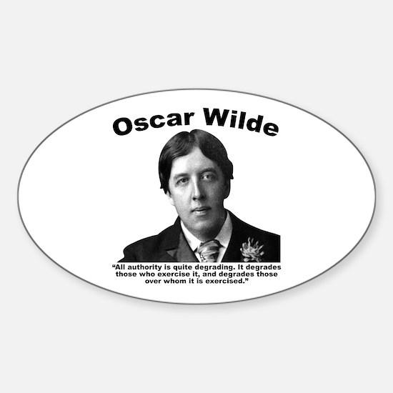 Wilde: Authority Sticker (Oval)