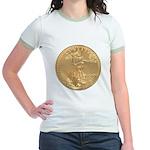 Gold Liberty 1986 Jr. Ringer T-Shirt