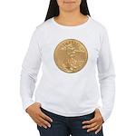 Gold Liberty 1986 Women's Long Sleeve T-Shirt