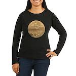 Gold Liberty 1986 Women's Long Sleeve Dark T-Shirt