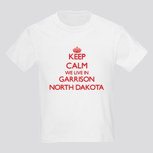 Keep calm we live in Garrison North Dakota T-Shirt