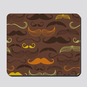 Funny Brown Mustasche Design Mousepad