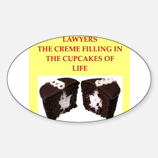 lawyer Sticker (Oval)