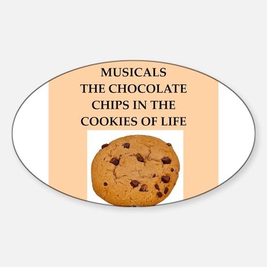 musicals Sticker (Oval)