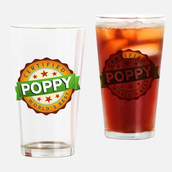 World's Best Poppy Drinking Glass