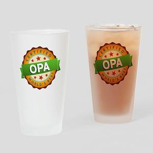 World's Best Opa Drinking Glass