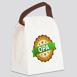 World's Best Opa Canvas Lunch Bag