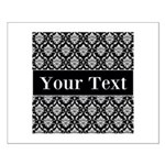 Personalizable Black White Damask Posters