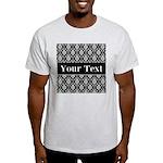 Personalizable Black White Damask T-Shirt