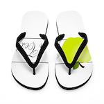 Personalizable Green Apple Flip Flops
