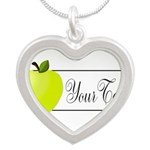 Personalizable Green Apple Necklaces